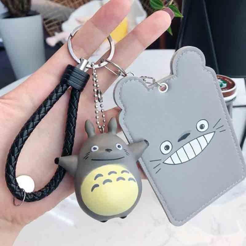 1 Pcs Kawaii Korean Cartoon Totoro ID Card Holder Cute Bank Credit Cards Packs Birthday Christmas Gift For Girl Boy Stationery