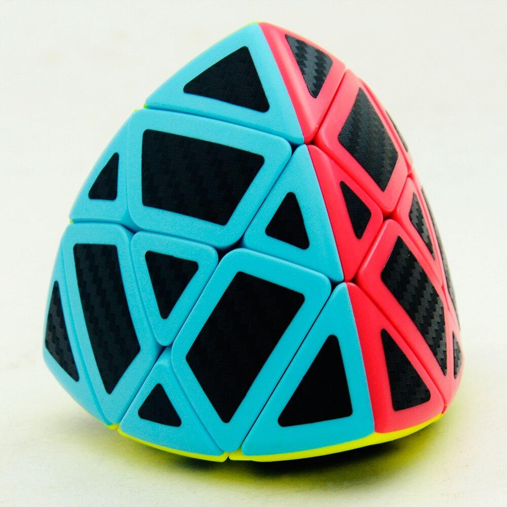 6 pièces/ensemble Lefun Magique Cube Mastermorphix + SQ-1 + Megamin + Miroir Bloc + Pyramin + Biais Noir autocollant Rubiks Cube - 5
