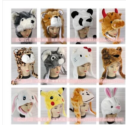 Free Shipping Cartoon Plush Animal Hats During The Winter To Keep Warm Earmuffs Cap Adults And Children Are Available