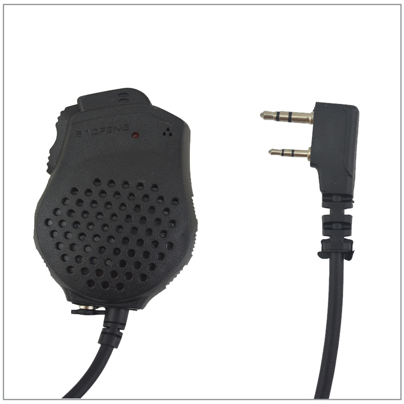 Baofeng Pofoung Dual PTT Remote Hand speaker MIC Microphone for UV 82 UV 82HX BF 888S