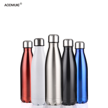 350/500/750/1000ml Double-Wall Insulated Vacuum Flask Stainless Steel Water Bottle Cola Beer Thermos for Sport