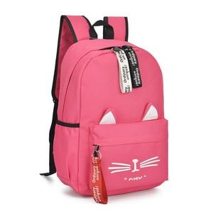 Image 3 - Nowe oba ramiona plecak dla dziewcząt piękne kocie uszy studenckie dzieci torby szkolne dla chłopców torba dla dzieci Mochila Escolar Cartable Enfant