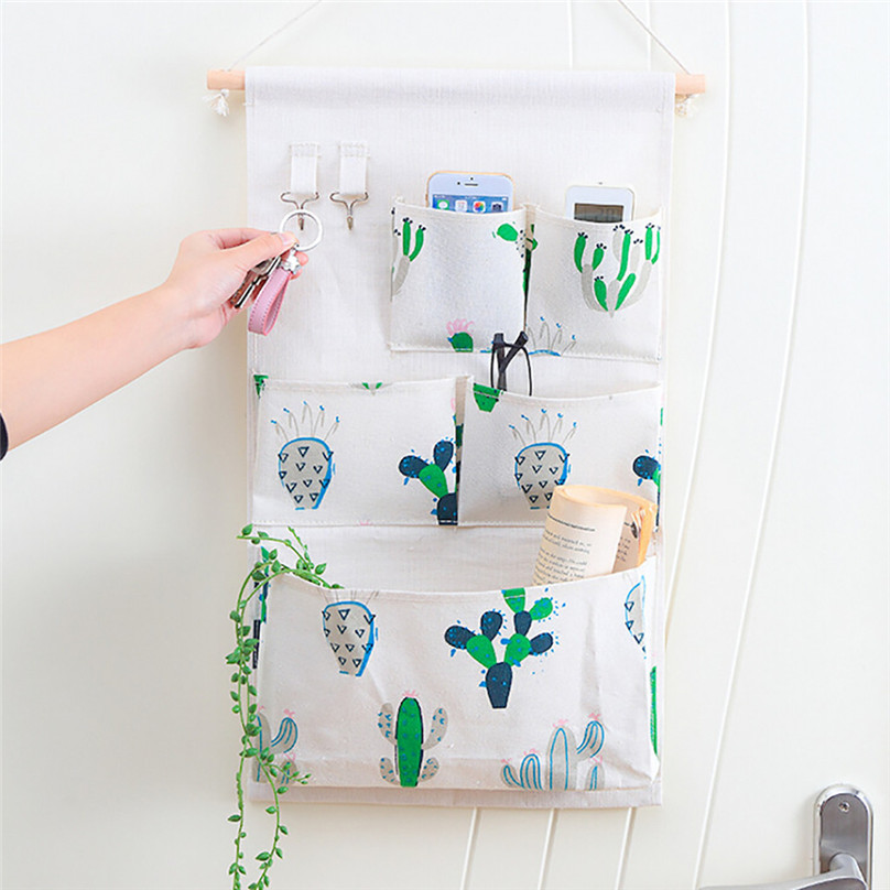 New Hanging Storage Bag Multiple Pockets Storage Hanging Bag Wall Mounted Door Pouch Room Organizer Underwear Socks Bag#25j10 (9)