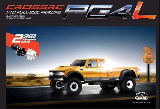 CROSSRC PG4L 4WD KIT American heavy muscle pick up truck profession Assemble Climbing RC Car Parts Version