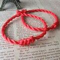 Código de Linha de Corda De Cera Pulseira Amuleto da sorte Pulseira Corda Vermelha Jóias Handmede