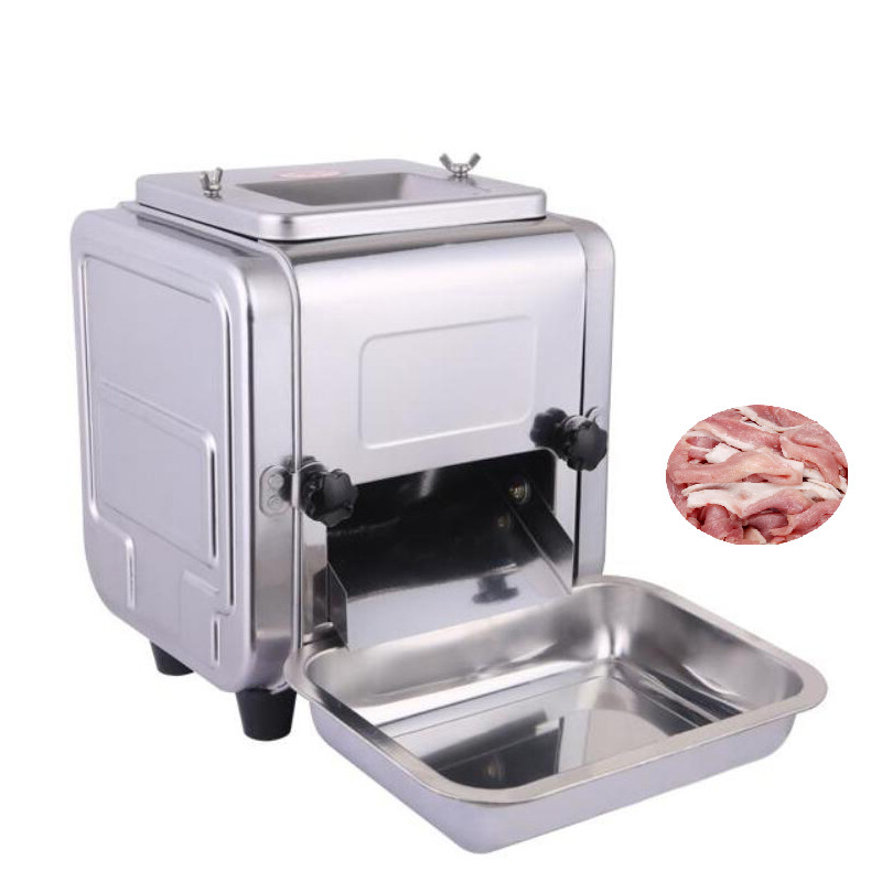 BEIJAMEI Commercial Meat Cutter 550W Desktop meat slicer stainless steel meat cutting slicing 3/2.5/5/7mm thickness цена