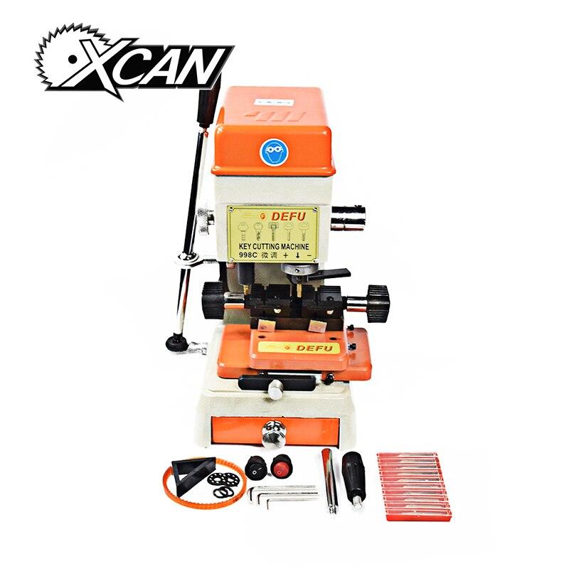 XCAN 998C универсальный разъем ключ машина вертикальные ключевых резки отмычки auto слесарные инструменты ключ дублирование машины