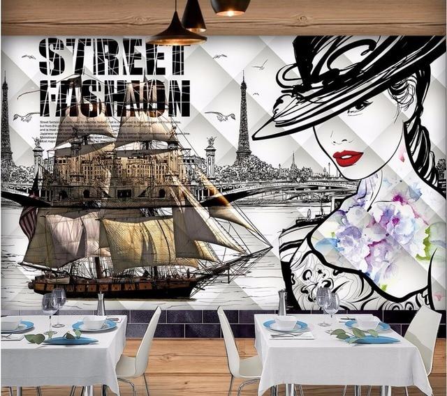 US $15.35 45% OFFCustom Mural 3D Wallpaper Perahu Layar Kecantikan  Pemandangan Dekorasi Rumah Lukisan 3D Mural Dinding Wallpaper untuk Ruang  Tamu
