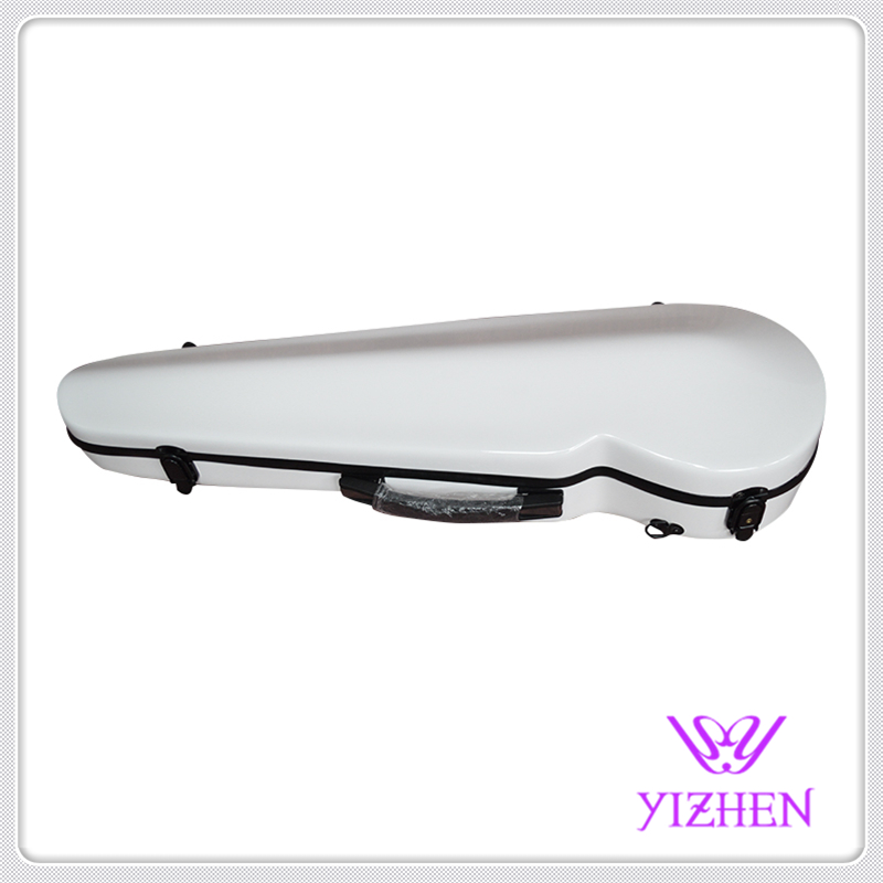 White blue stitching color 4/4 glass fiber violin case white blue stitching color 4 4 glass fiber violin case