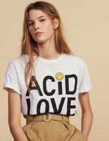 Women T shirt 2019 Spring and Summer Loose Cute Style Letter Print Smiley T shirt