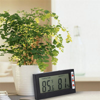 Temperature Humidity Gauge Indoor Outdoor Digital LCD Thermometer Hygrometer Meter Wired External Sensor Tester