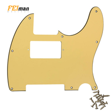 Pleroo Guitar accessories Pickguards with 8 screws For American Standard PAF Humbucker Tele Telecaster Scratch Plate