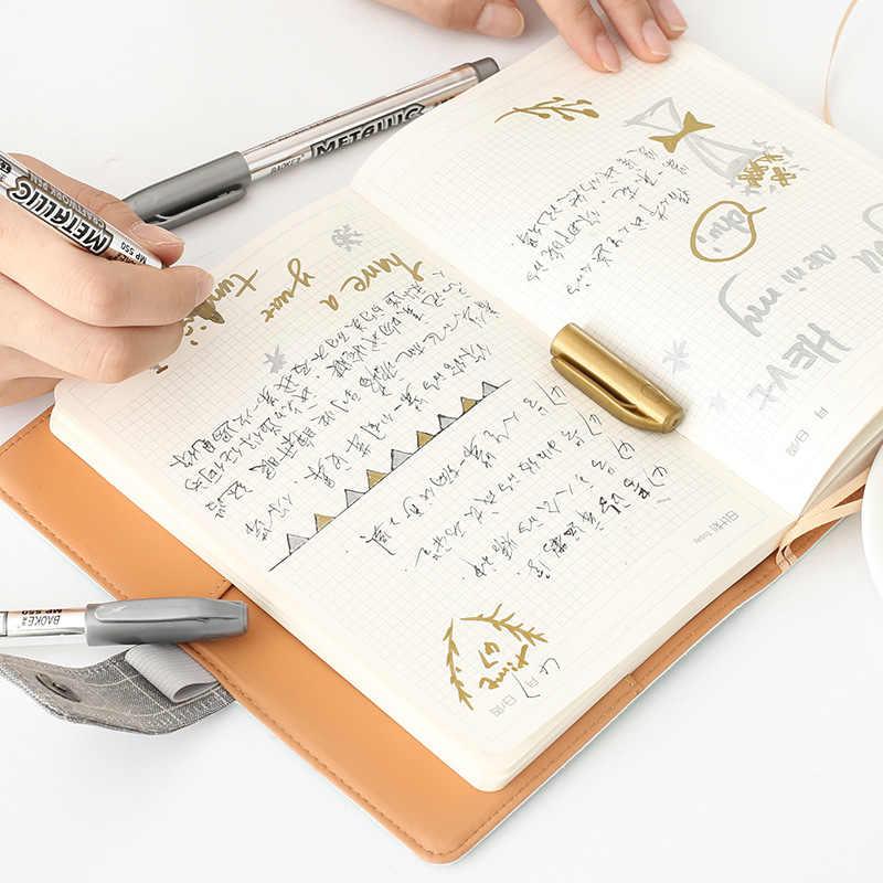 معدني الملونة الحبر المياه الطباشير أقلام تلوين القلم ل سجل القصاصات ألبوم صور الرسم المائية هلام الأقلام القرطاسية B060