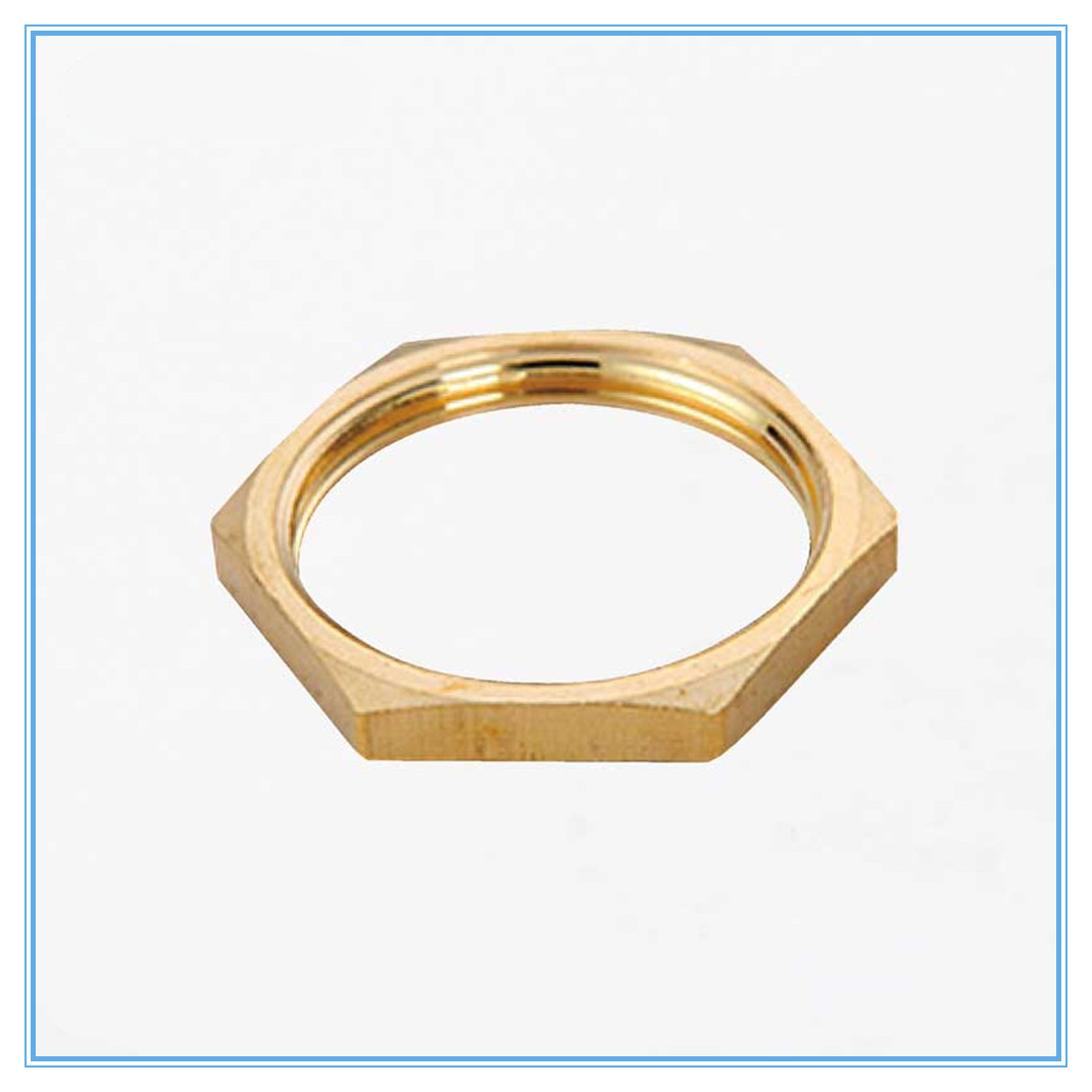 5pcs  Copper Hex Lock Nuts Pipe Fitting 1/8