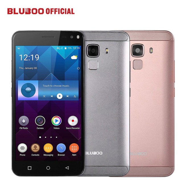"BLUBOO Xfire 2 MTK6580 Quad Core WCDMA Fingerprint Mobile Phone 5.0"" HD IPS Android 5.1 1GB RAM 8GB ROM 5MP Dual SIM Smartphone"