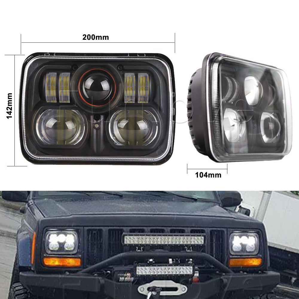 whdz 1pc 7inch high low sealed beam conversion led headlamp for