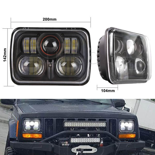 Online Shop Whdz 1pc 7inch High Low Sealed Beam Conversion Led