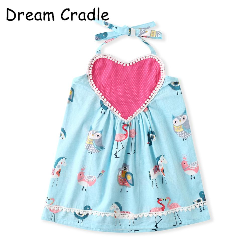 Dream Cradle Cartoon Baby Girls Dress Love Amusement Park baby girl clothes summer in Dresses from Mother Kids