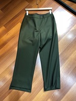 2019 Spring and Autumn New Women Pants Wool Blend Army Green 0320