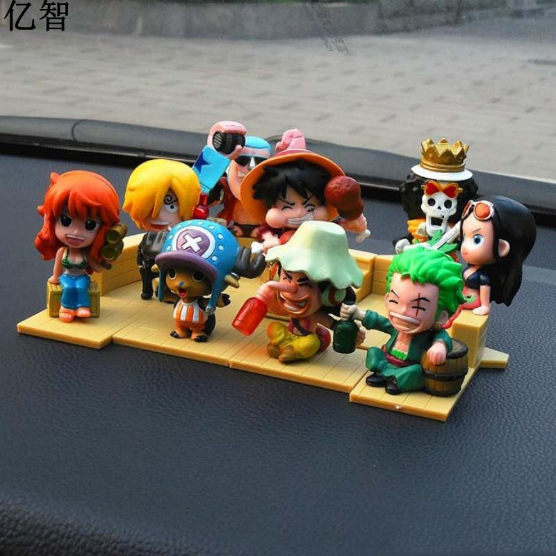 YiZhi One Piece Deck Building Doll Car Ornaments Cool Styling Creative Gift For Friend