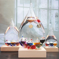 Colorful Glass Levitated Ball Galileo Thermometer Weather Temperature Forecast Bottle Office Home Decor Ornament Gift