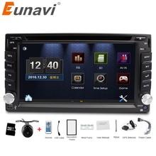 Eunavi universal Car Radio Pokój 2 din Samochód DVD Player GPS nawigacja W dash Car PC Stereo Radioodtwarzacza wideo + Darmowa Mapa + Darmowe Kamery!