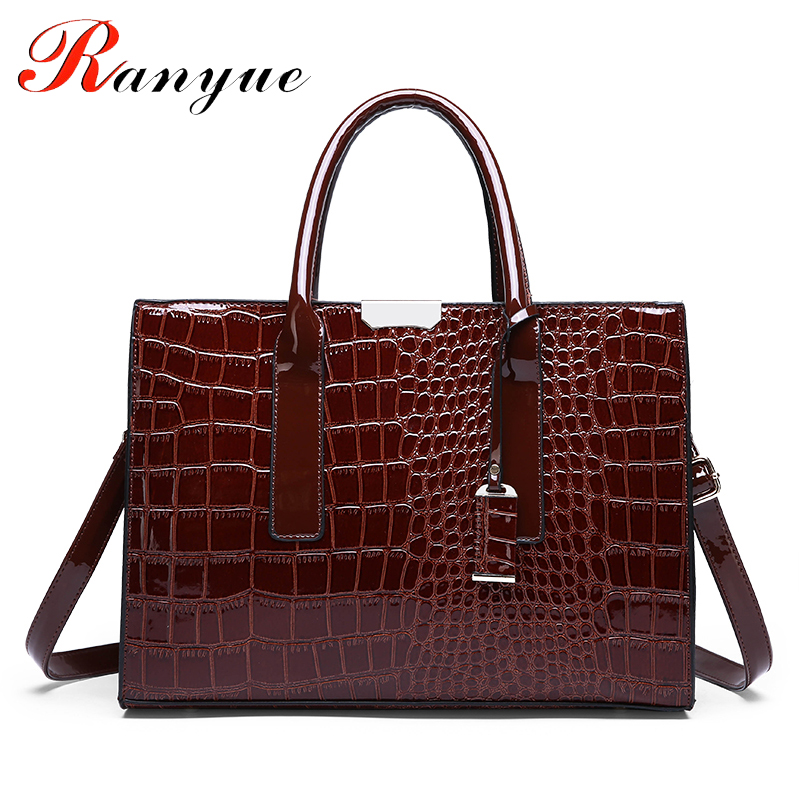 RANYUE New Crocodile Pattern Women Bag Handbags Women Messenger Bags  Crossbody Shoulder Bags Ladies Tassel Women Leather Handbag 40f250b991368