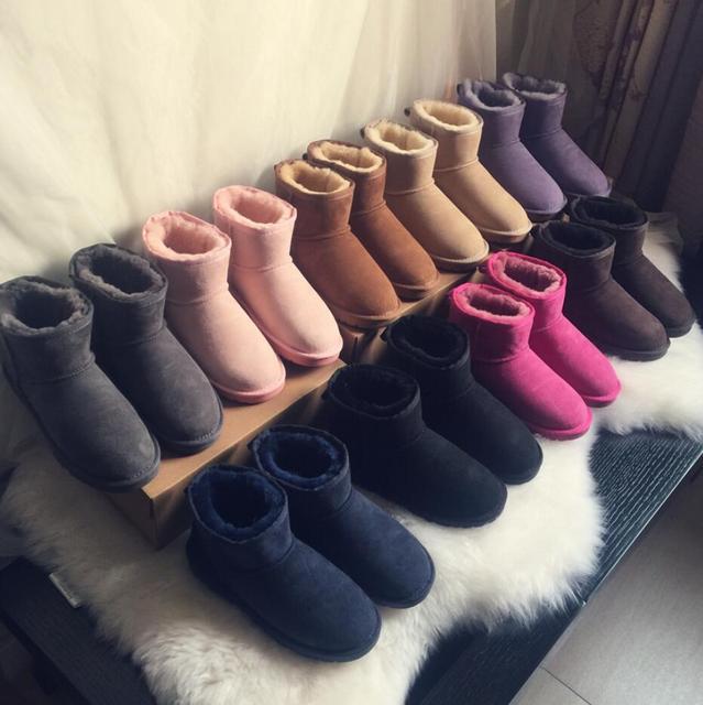 Женские сапоги в австралийском классическом дизайне, зимние сапоги до щиколотки, короткие высокие сапоги до колена с бантиком, женские сапоги, оптовая продажа, US3-13
