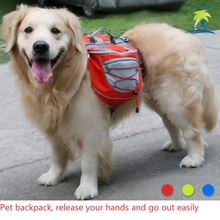 Dog Harnesses Pet Backpack Reflective Adjustable Suitable for large and medium dogs vest