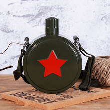 Red Five Star Kettle Military Training Marching Pot 304 Stainless Steel Portable outdoor Camp  kettle