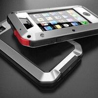 טלפון עמיד כיסוי, מכסה נגד האבק עמיד הלם רב עוצמה הדוק דק במיוחד מתכת קייס מגן עבור Apple iPhone 4 4S