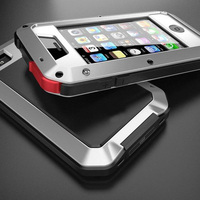 Phone Weatherproof Cover Metal Ultra Thin Tight Dustproof Shockproof Powerful Protective Case For Apple IPhone 4