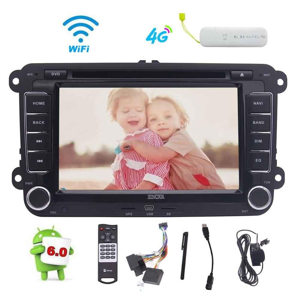 4G Dongle + Double 2 Din Android 6.0 Car DVD Player 7