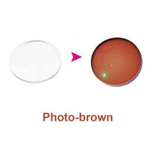 Image 5 - MR 8 Super twarde fotochromowe cyfrowe, bezkształtne, progresywne soczewki korekcyjne asferyczne do diamentowych oprawek okulary bez oprawek
