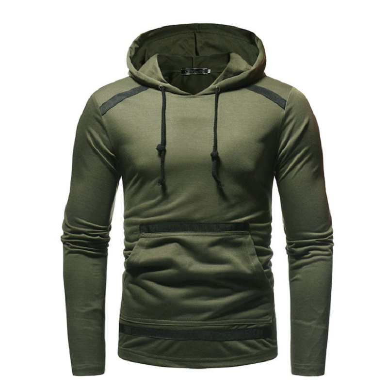 New Spring Autumn Fashion Hoodies Male Large Size Warm Thin Coat Men Brand Hoodies Sweatshirts Hip Hop Black Army Green Clothing