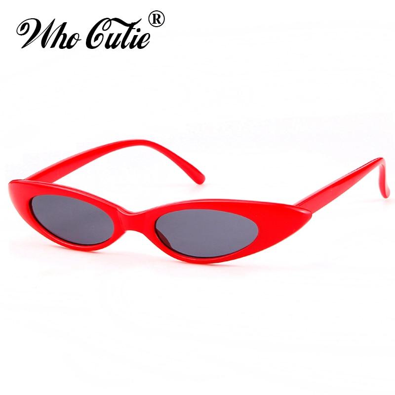 48013e9f53 Detail Feedback Questions about WHO CUTIE 2018 New Small Cat Eye 90s Sunglasses  Women Vintage Peak Cateye Frame Skinny Narrow Retro Sun Glasses Slim Shades  ...