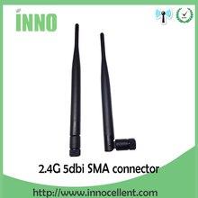10pcs 2.4GHz Antenna wifi 5dBi RP-SMA Female 2.4 ghz antena wi fi antenne Aerial antennas antenas for Wireless wi-fi Router модем zte mf79 usb wi fi router черный