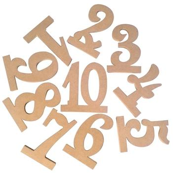 Wooden Table Numbers Wooden Wedding Supplies Wedding Place Holder Table Number Figure Card Digital Seat Decoration number