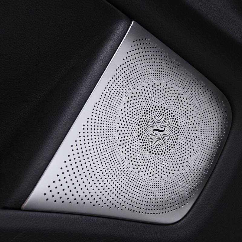 4pcs stainless steel Car Audio Speaker Car Door Loudspeaker Trim Cover For Mercedes Benz CLA GLA