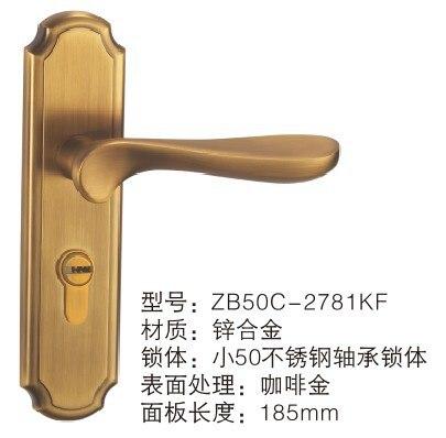 ФОТО [Xi] Supply door hardware Ya Huang ancient copper-zinc alloy door locks Zhongshan factory wholesale hardware