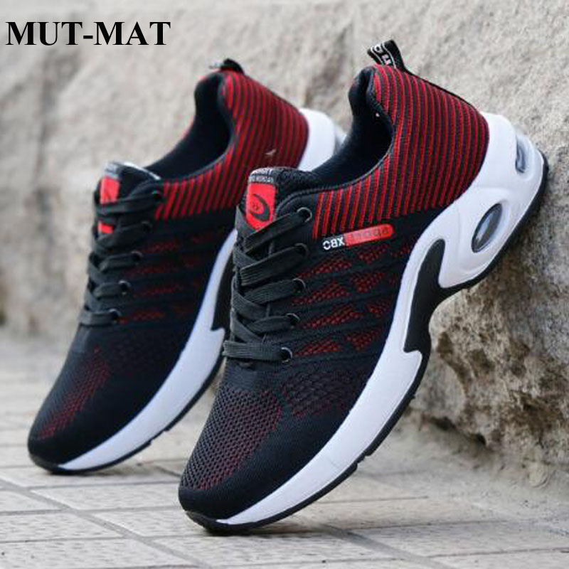 Men's Sports Shoes 2019 New Flying Woven Walking Shoes Shock Absorption Comfortable Breathable Fashion Lace-Up Men's Fpptwear