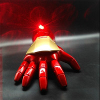 New Iron Man LED Light Wearable Cosplay Gloves Arm Figure Model Toy Glove Costume Party Kids Gift Toys