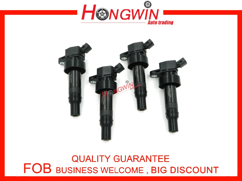 ФОТО 4PCS 27301-2B100 Ignition Coil For KIA Rio Rio5 UB KIA Soul 12-14 1.6L Hyundai Accent 27301-2B100/27301 2B100/273012B100