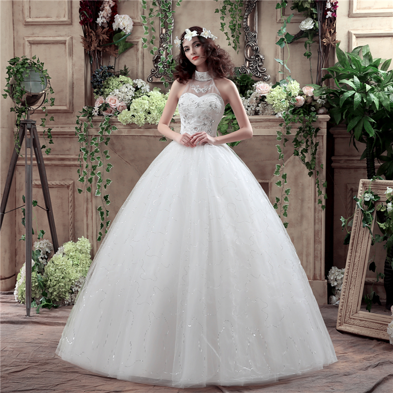 White Ivory Ball Gown Wedding Dresses Plus Size 2018 Robe De Mariage ...