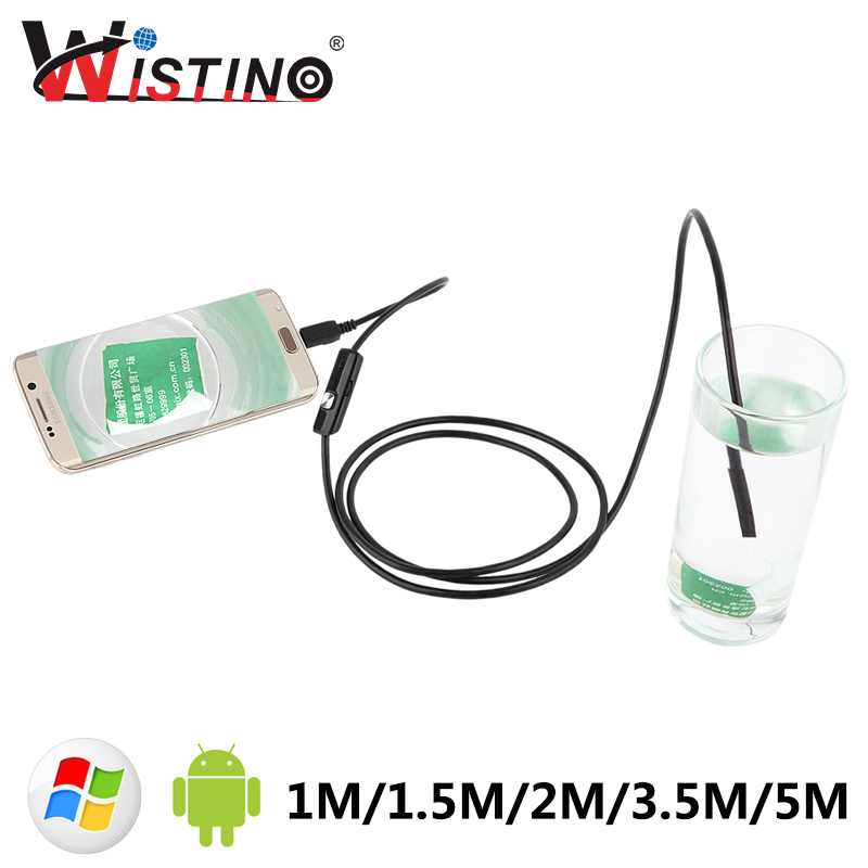 8mm Mini Android USB Endoscope Smartphone Camera Pipe Cable Waterproof Led Inspection En ...