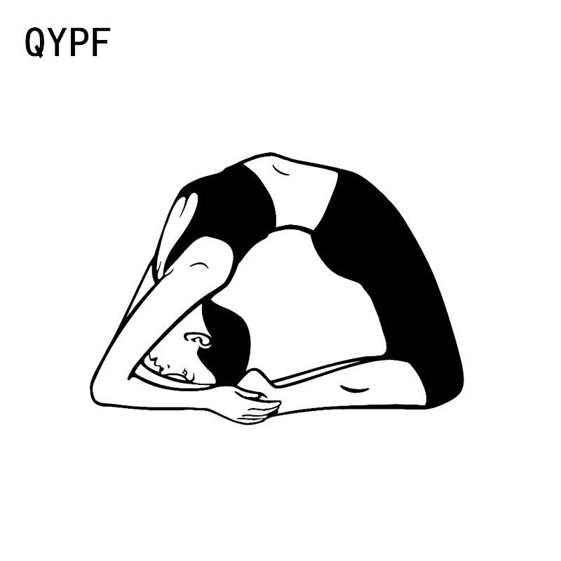 QYPF 14*10,3 крутой Йога Медитация фитнес Декор винил автомобиль стикер на бампер или окно силуэт C16-1961