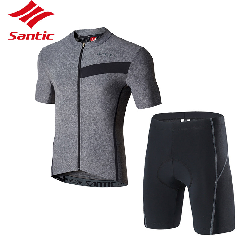 Santic Cycling Jersey Set Men MTB Road Pro Bike Bicycle Clothing Suit Breathable Tour De France Racing Jersey 2018 Ropa Ciclismo fastcute cycling jersey sets ropa de ciclismo short sleeve road bicycle jersey gel padded mountain bike clothing mtb cycle set