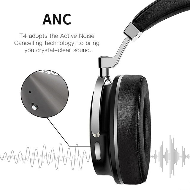 Headphones Headset Portable with Microphone for Music earphone Time-limited Headphone Earphones New Bluedio T4 Bluetooth