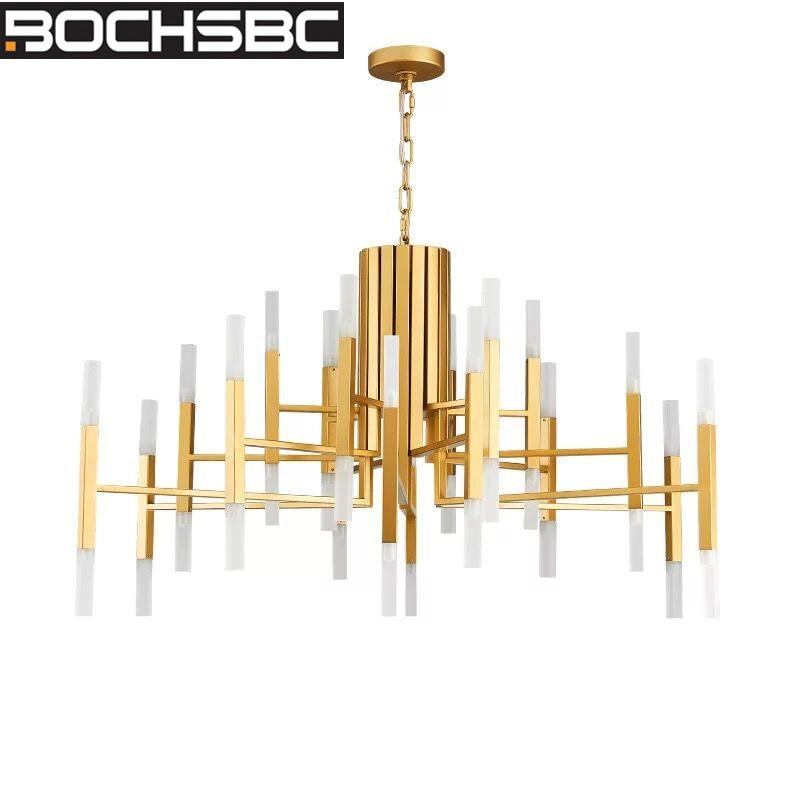 BOCHSBC современный металлический ABS подвесные светильники промышленные арт деко светильники для спальни гостиная столовая Подвесная лампа