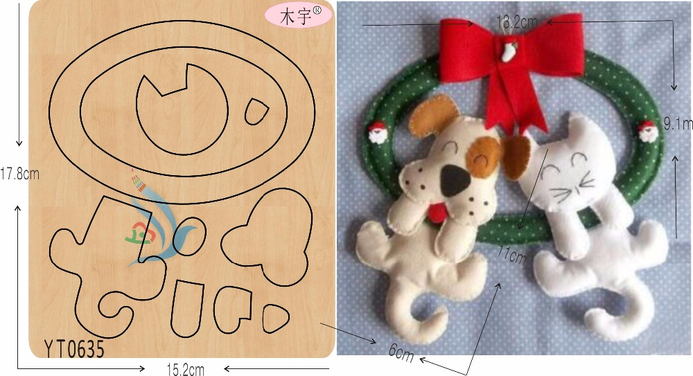 Dogs and cats DIY new wooden mould cutting dies for scrapbooking Thickness 15 8mm YT0635